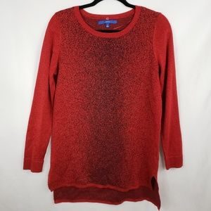 Apt. 9 Red Shimmer Tunic Sweater Size M